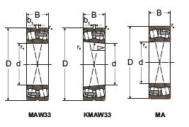 Подшипники роликовые радиальные сферические двухрядные в виброустойчивом исполнении с цилиндрическим и коническим отверстием
